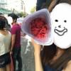 花をもらいました