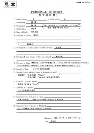 英文履歴書