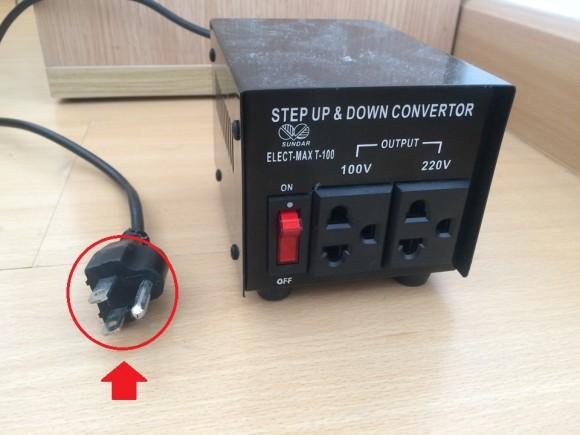 タイでの変圧器とコンセントの形状(変換プラグ)について