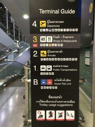 タイスワナンプーム空港からバンコク中心地へ行く往復交通手段