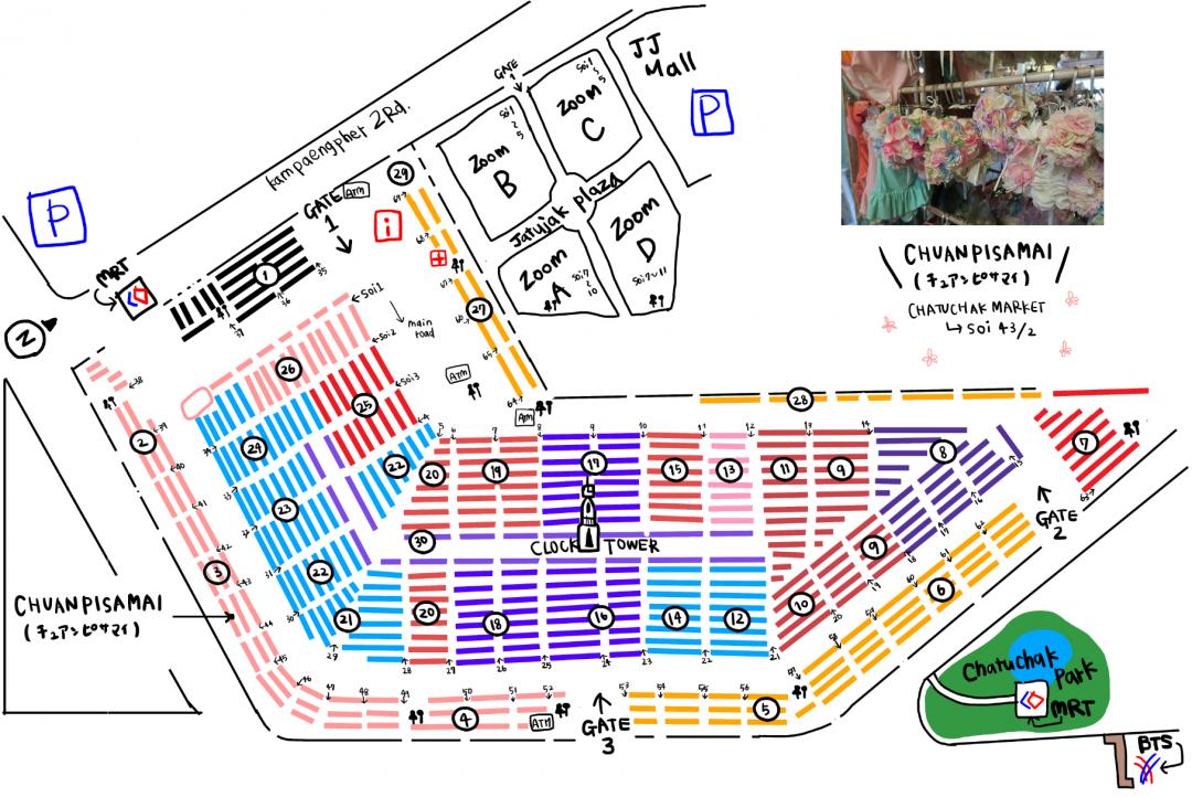 地図タイ店舗*CHUANPISAMAI(チュアンピサマイ)