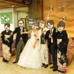 親族と家族だけの小さな結婚式