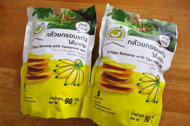 タイのお土産:お菓子「タマリンドジャムのサクサクバナナ」
