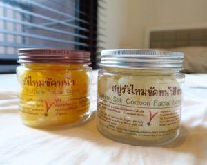 【タイお土産OTOP】お肌ツルツル天然繭玉「White Silk Cocoon Facial Scrub」がおすすめ!