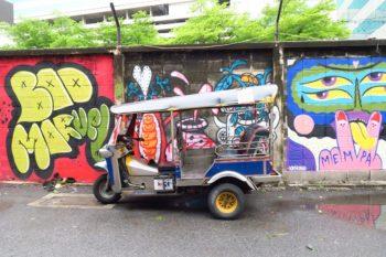 タイ・バンコクのウォールアートストリート散策@Charoen Krung soi32