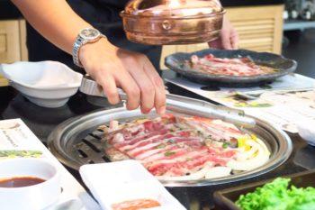 牛肉のサムギョプサル「本家Bornga」でウサムギョプ@プロンポンsoi39