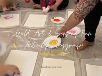 "Littele peaの木曜日""Wild Art & Sensory Fun Activity Playgroup""に参加【0歳~3.5歳】"