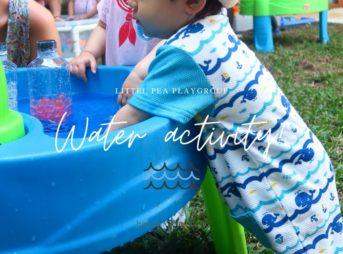 """Little peaの火曜日のプレイグループ""""Water activity""""に参加しました【1歳~3.5歳】"""