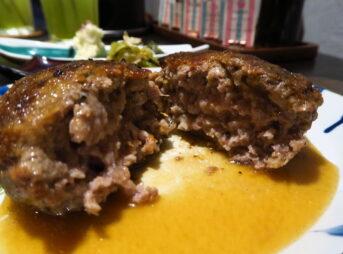 【Meat&Co(me)】岡喜のハンバーグと土鍋釜炊きご飯のTKG!牛肉の精肉店付き@フジ2前